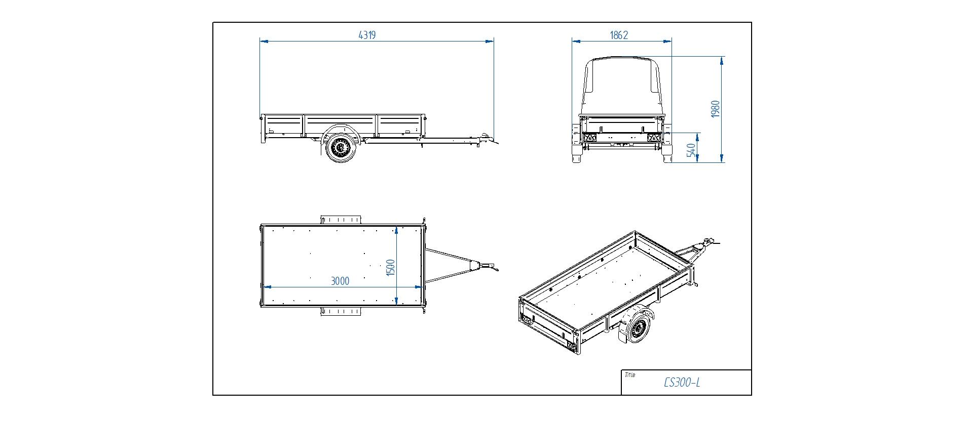 CS300-L [Attēli ir informatīvi un piekabes komplektācijā var būt iekļauts papildu aprīkojums]