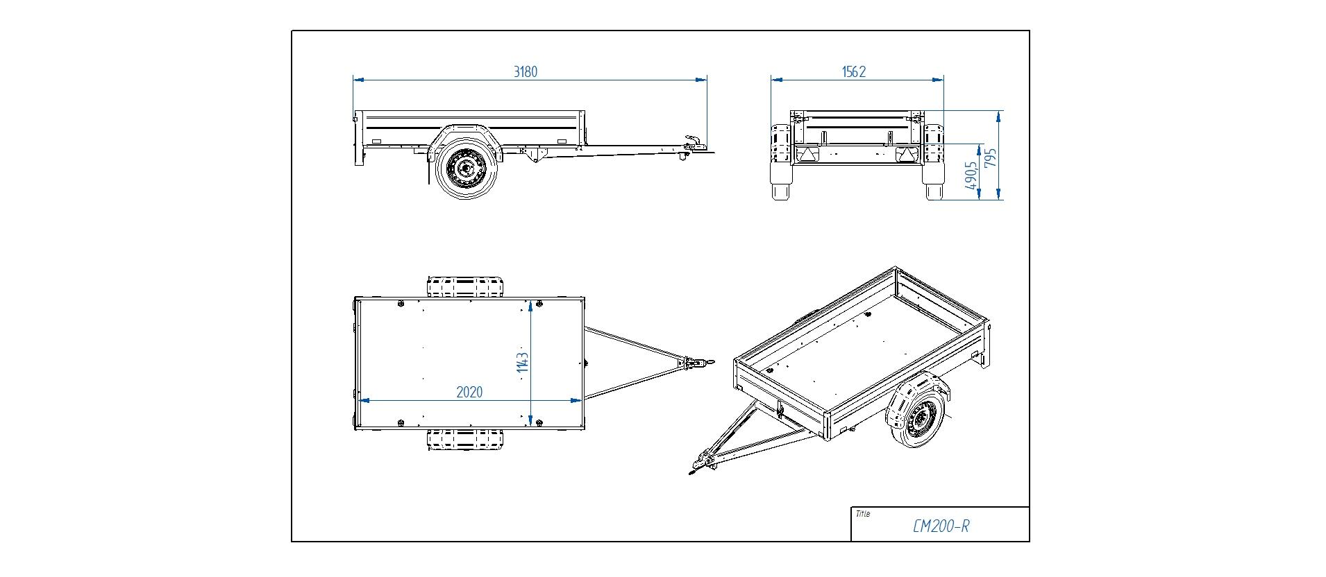 CM200-R [Attēli ir informatīvi un piekabes komplektācijā var būt iekļauts papildu aprīkojums]