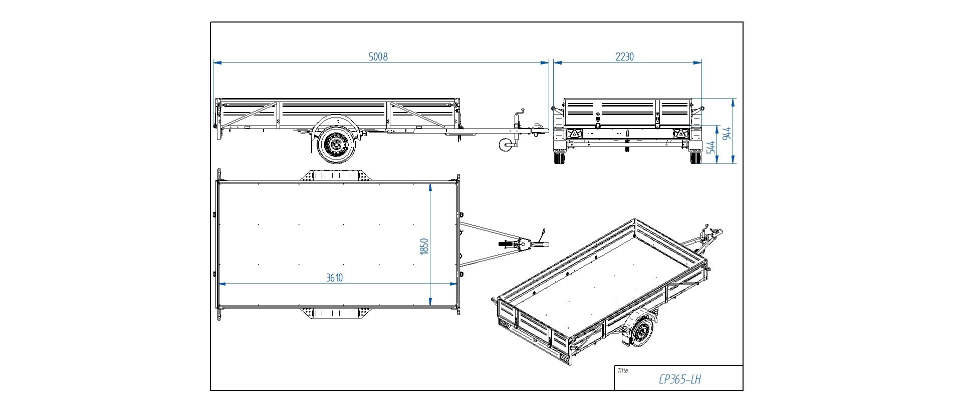 CP365-LH [Attēli ir informatīvi un piekabes komplektācijā var būt iekļauts papildu aprīkojums]
