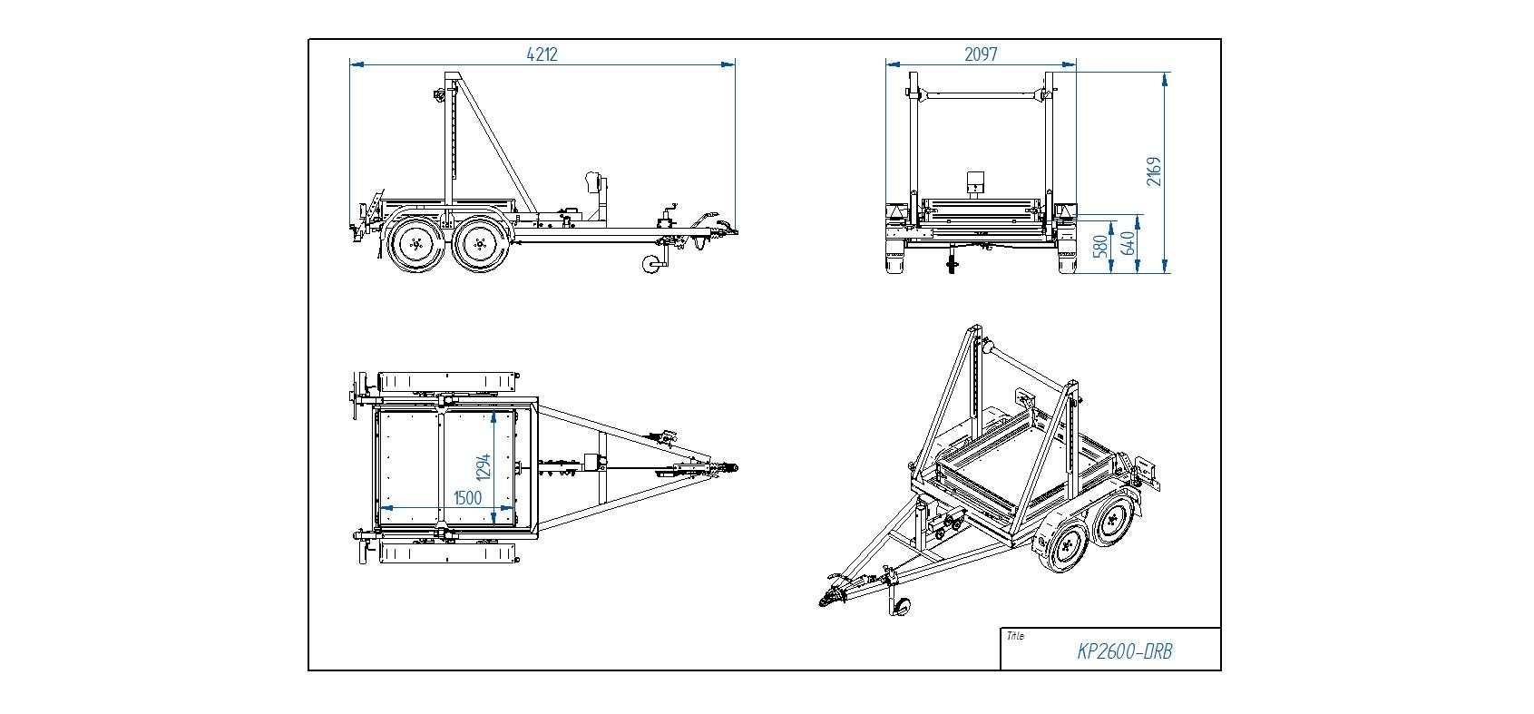 KP2600-DRB [Attēli ir informatīvi un piekabes komplektācijā var būt iekļauts papildu aprīkojums]