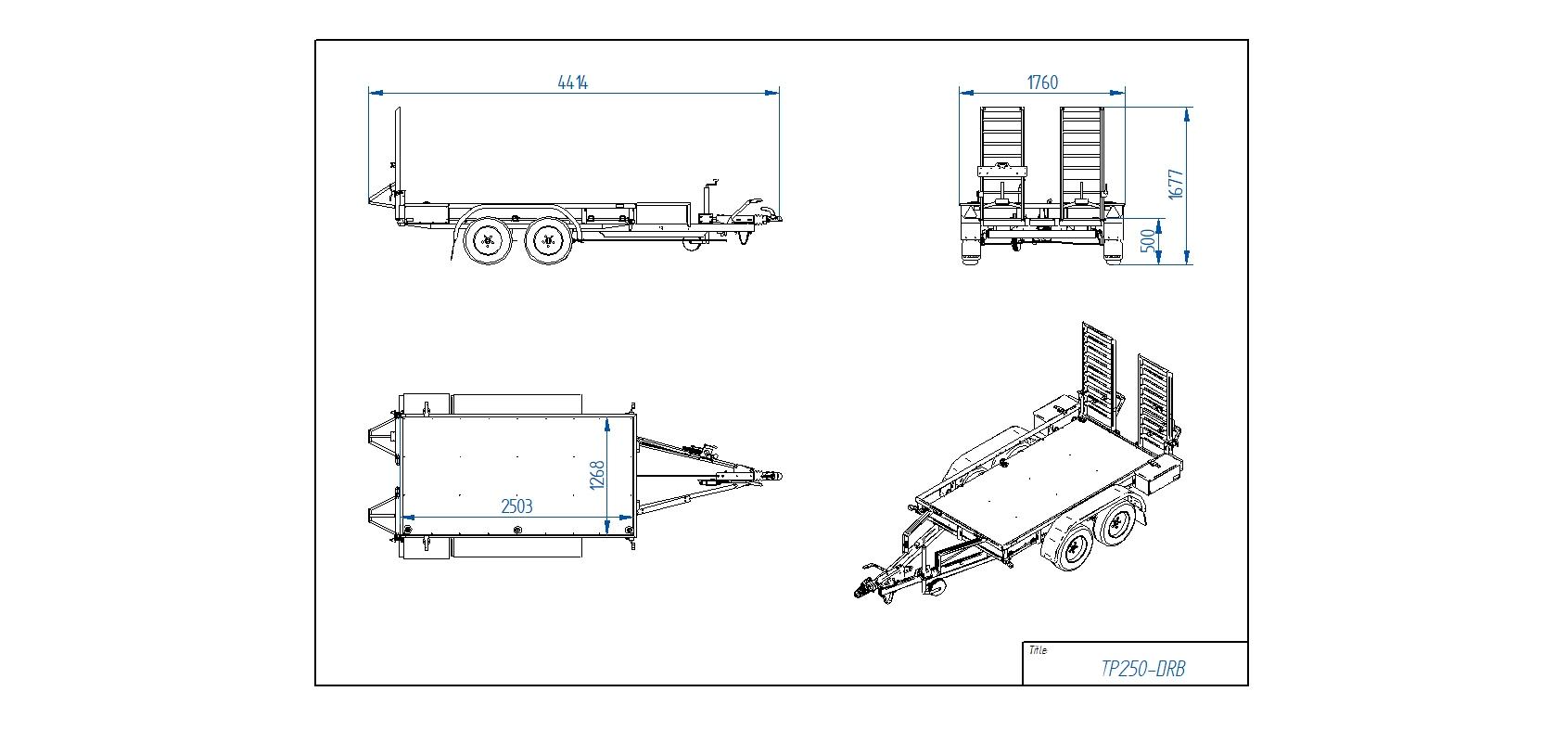TP250-DRB [Attēli ir informatīvi un piekabes komplektācijā var būt iekļauts papildu aprīkojums]