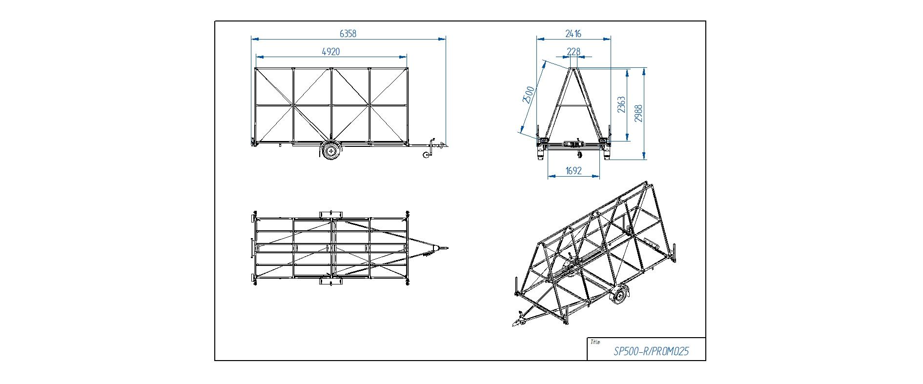 SP500-R/PROMO25  [Attēli ir informatīvi un piekabes komplektācijā var būt iekļauts papildu aprīkojums]