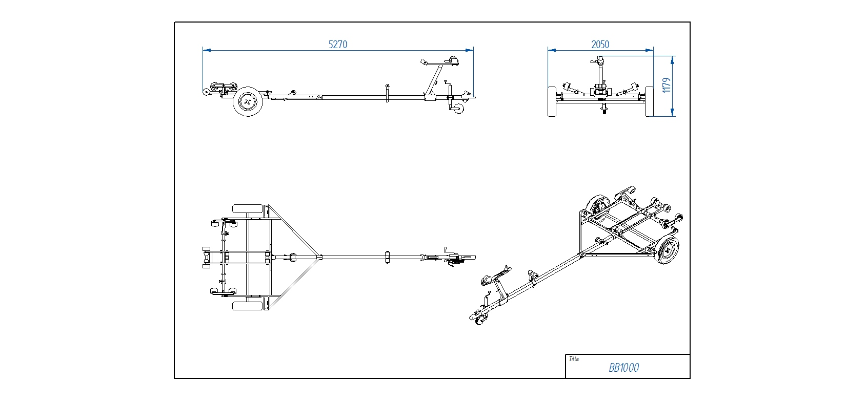 BB1000 Pludmales piekabe [Attēli ir informatīvi un piekabes komplektācijā var būt iekļauts papildu aprīkojums]