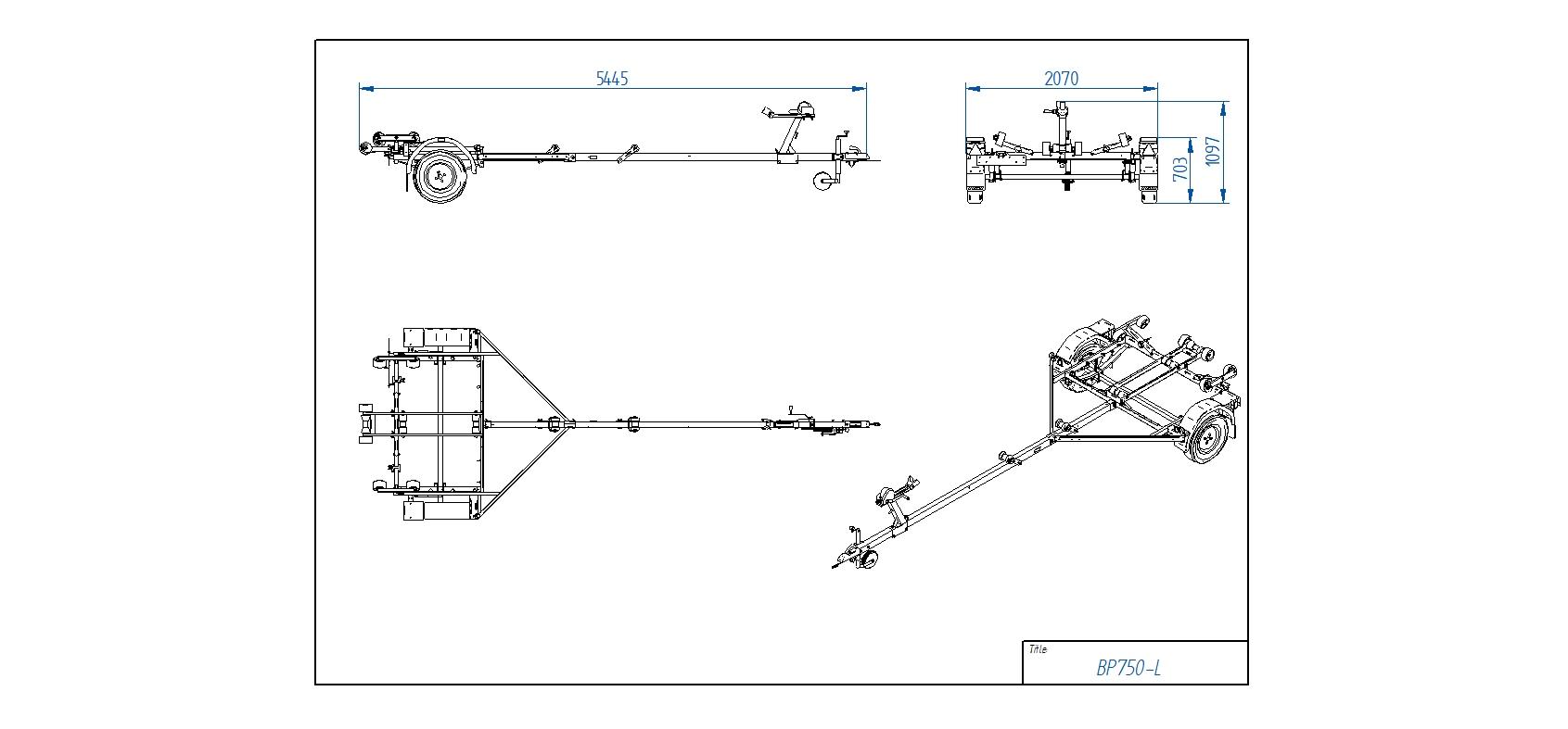 BP750-L [Attēli ir informatīvi un piekabes komplektācijā var būt iekļauts papildu aprīkojums]