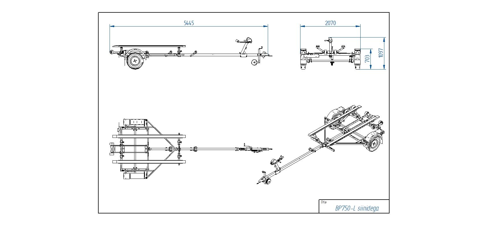 BP750-L koka sijas [Attēli ir informatīvi un piekabes komplektācijā var būt iekļauts papildu aprīkojums]