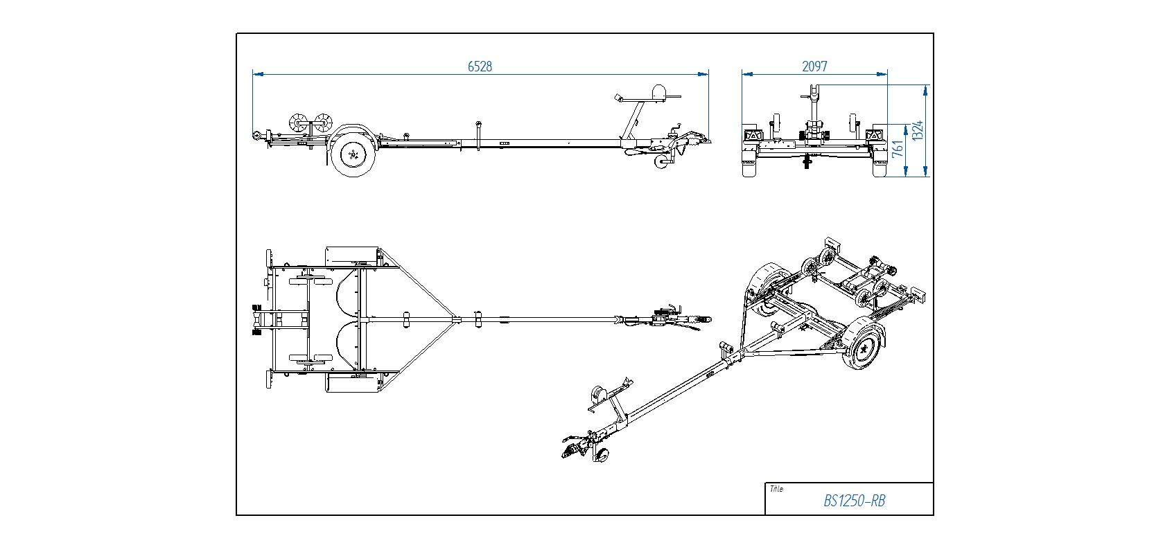 BS1250-RB [Attēli ir informatīvi un piekabes komplektācijā var būt iekļauts papildu aprīkojums]