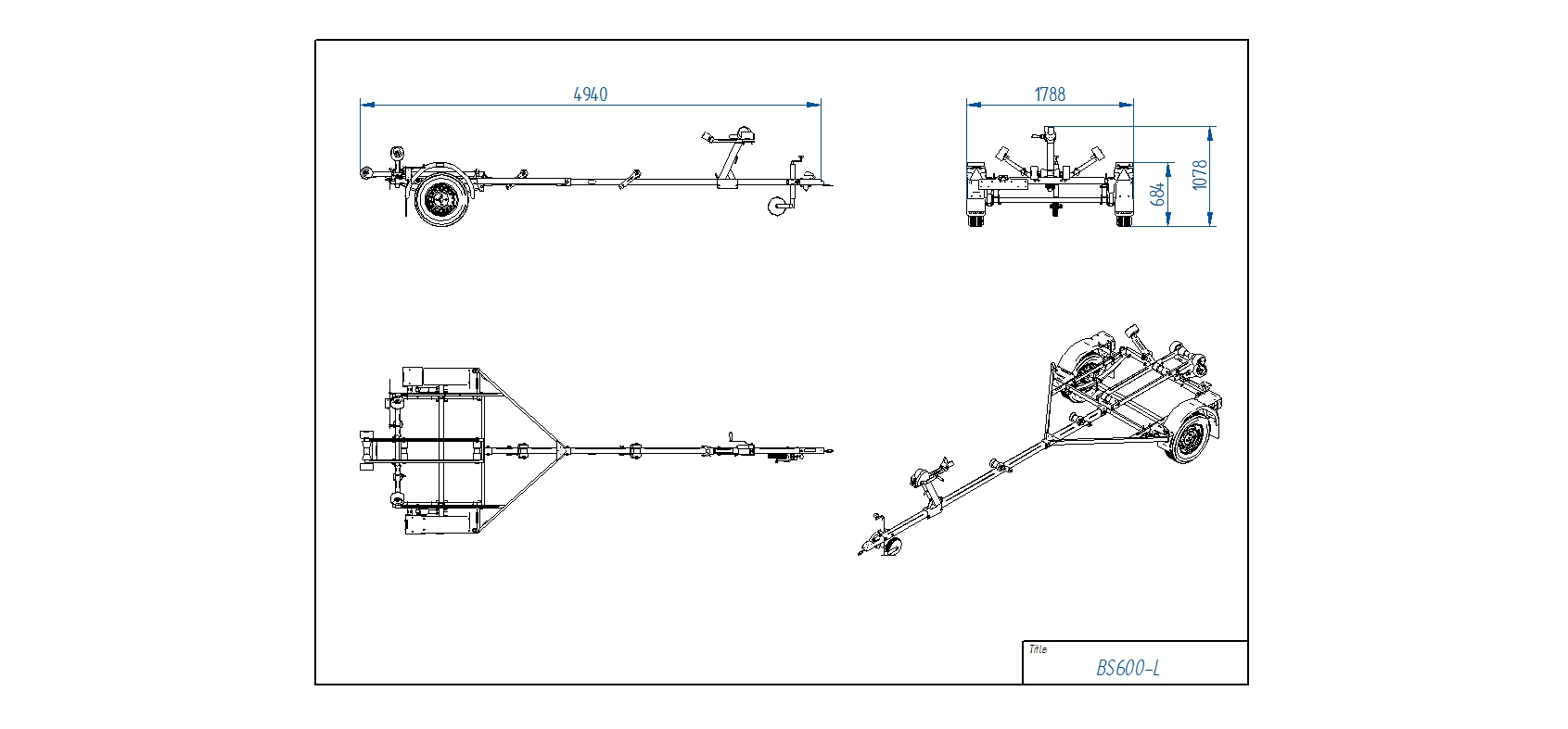 BS600-L [Attēli ir informatīvi un piekabes komplektācijā var būt iekļauts papildu aprīkojums]