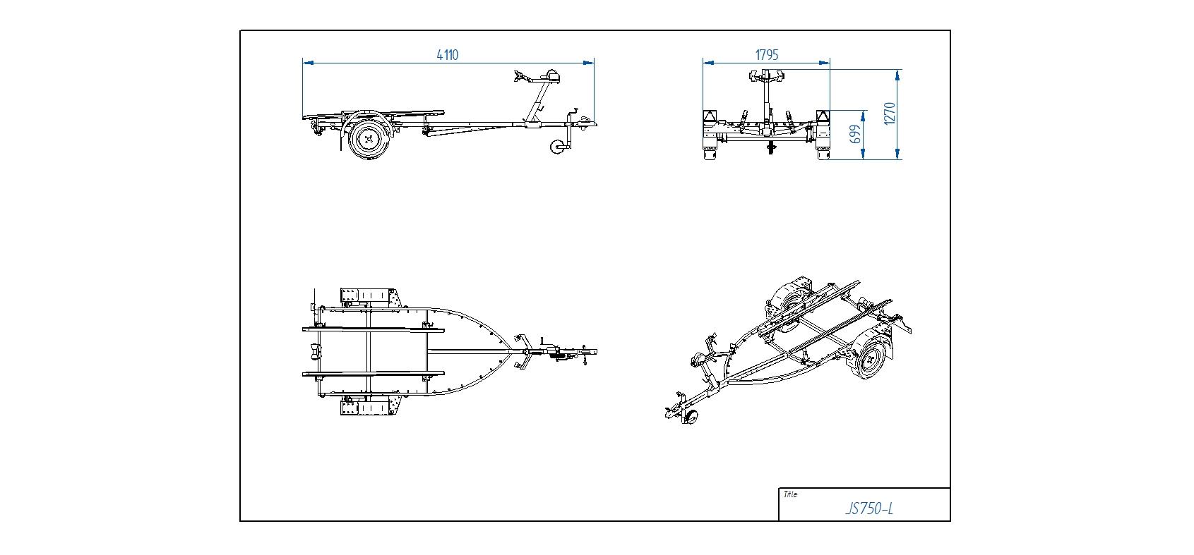 JS750-L JET piekabe [Attēli ir informatīvi un piekabes komplektācijā var būt iekļauts papildu aprīkojums]